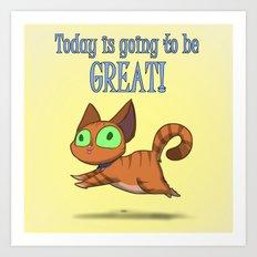 Optimistic Cat Art Print