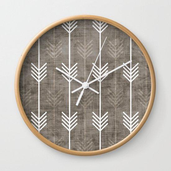 dirty arrows Wall Clock
