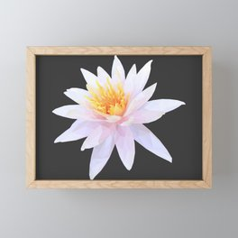 Geometric Lotus Flowers Framed Mini Art Print