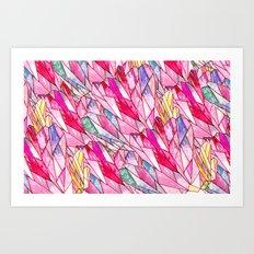 Crystal pattern Art Print