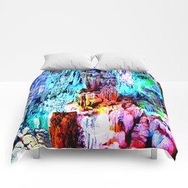 Cavern in Greece Comforters