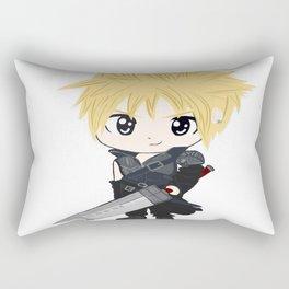White cloud with sword Rectangular Pillow
