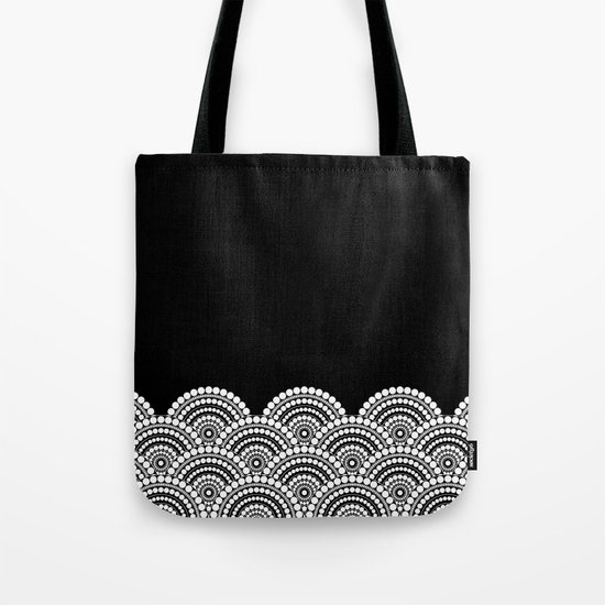 BLACK AND WHITE (abstract pattern) Tote Bag