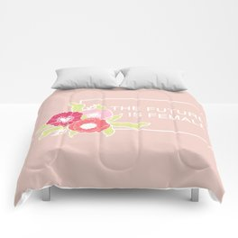 The Future Is Female #society6 #buyart Comforters