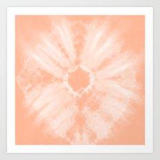 Tie Dye Peach Art Print