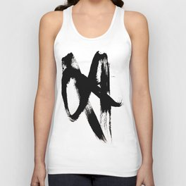 Brushstroke 2 - simple black and white Unisex Tank Top