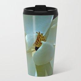 Blue Magnolia Metal Travel Mug