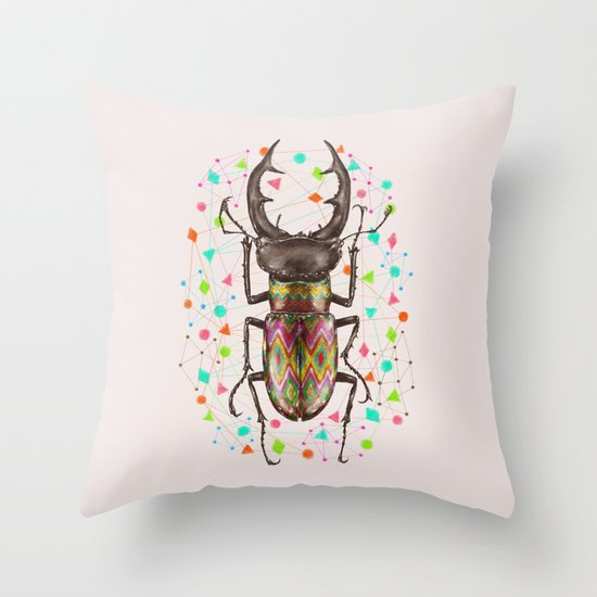 INSECT IV Throw Pillow