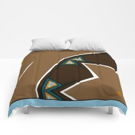 Brown Zags Comforters