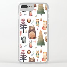 forest friends Clear iPhone Case