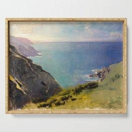 Abbott Handerson Thayer - Cornish Headlands (1898) Serving Tray