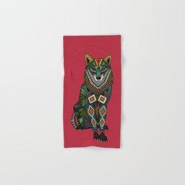 wolf red Hand & Bath Towel