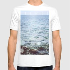 Serenity MEDIUM White Mens Fitted Tee