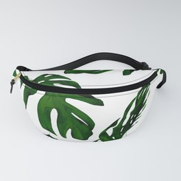 Simply Tropical Palm Leaves in Jungle Green Fanny Pack