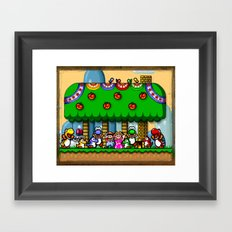 Super Mario World Happy Ending Framed Art Print