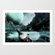Fly Kids to the Moon Art Print