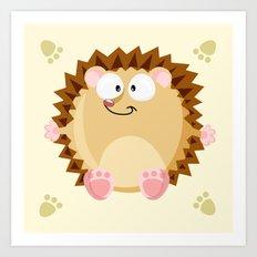 Hedgehog form the circle series Art Print