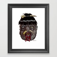 Heads of the Living Dead Zombies: Head Hunter Zombie Framed Art Print
