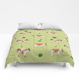 donkeys and cactuses Comforters