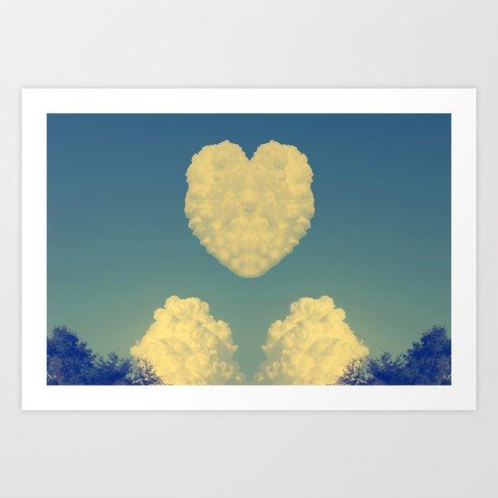 Cloudy Heart  Art Print