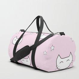 kitty star pattern Duffle Bag