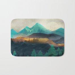 Green Wild Mountainside Bath Mat