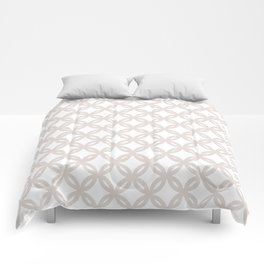 Flowers cream neutral Comforters
