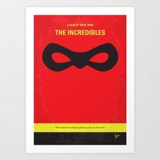 No368 My Incredibles minimal movie poster Art Print