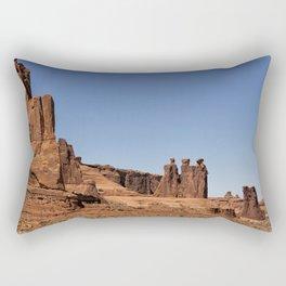 Three Gossips - Arches National Park Rectangular Pillow