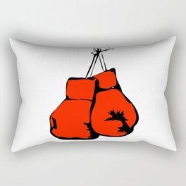 Hanging Boxing Gloves Rectangular Pillow