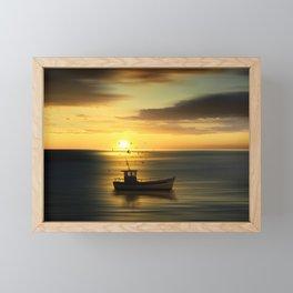 when the sun goes down Framed Mini Art Print