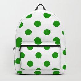 Polka Dot Texture (Green & White) Backpack