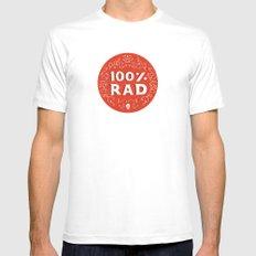 100% Rad White MEDIUM Mens Fitted Tee