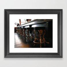 The Lonely Bartender Framed Art Print