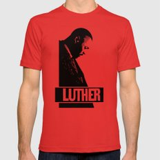Luther - Idris Elba LARGE Red Mens Fitted Tee