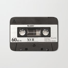 Cassette Tape Black And White #decor #homedecor #society6 Bath Mat