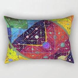 Trapeze Multicolor Diagonal Abstract Rectangular Pillow