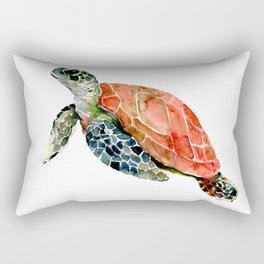 Sea Turtle, turtle art, turtle design Rectangular Pillow