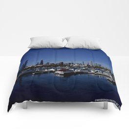 South Side Skyline (Chicago Northerly Island Collection) Comforters