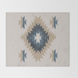 Santa Fe Southwest Native American Indian Tribal Geometric Pattern Throw Blanket