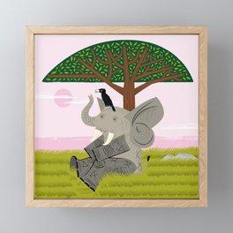 The Elephant and The Eagle Framed Mini Art Print