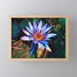 Blue Lotus Framed Mini Art Print