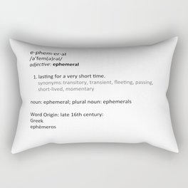 Ephemeral Rectangular Pillow