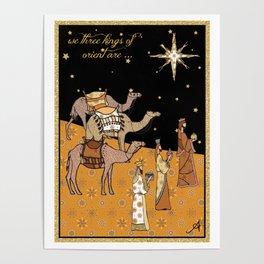 Christmas Nativity - We Three Kings Amanya Design Poster