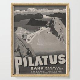 cartellone Pilatus Bahn voyage poster Serving Tray