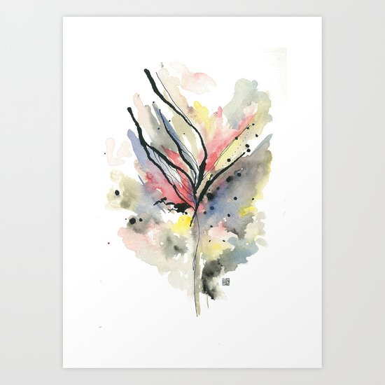 calm and collected Art Print
