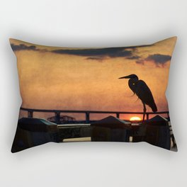 Heron Silhouette Rectangular Pillow