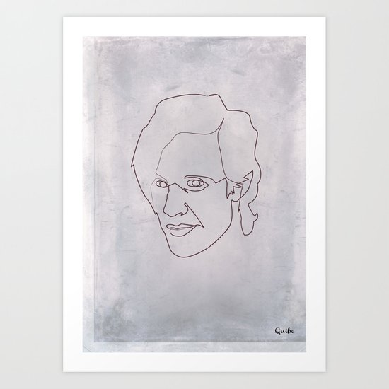 One line doctor Who (Matt Smith) Art Print