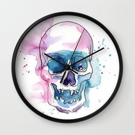 Abstract Skull Watercolor Wall Clock