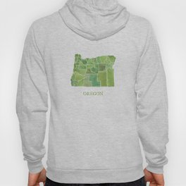 Oregon Counties watercolor map Hoody